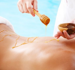массаж с мёдом
